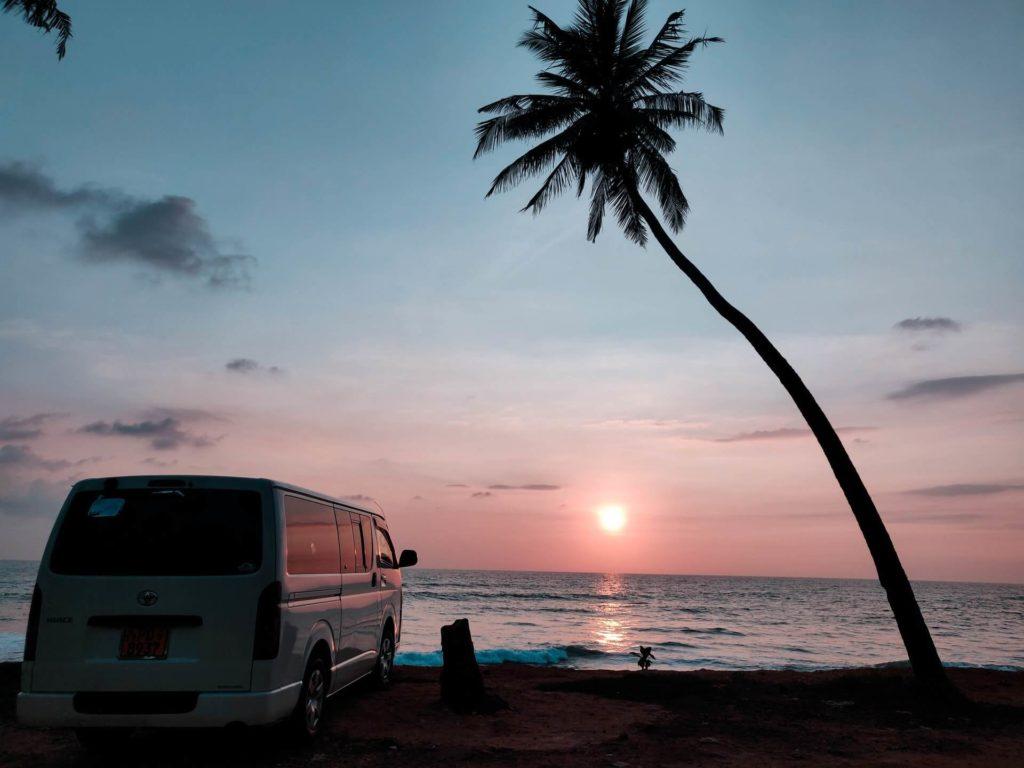 Playa de Hikkaduwa Sri Lanka